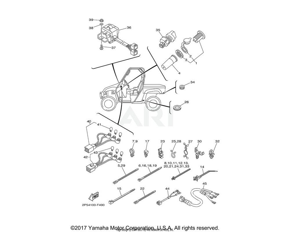 Yamaha OEM 5UG-F481H-00-00 CLAMP