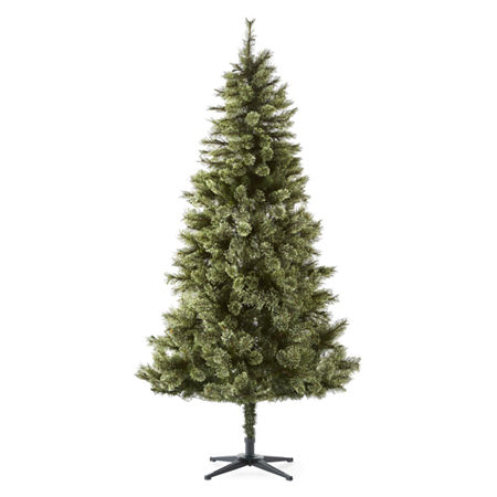 North Pole Trading Co. 7 Foot Weston Fir Cashmere Pre-Lit Christmas Tree, One Size , Green