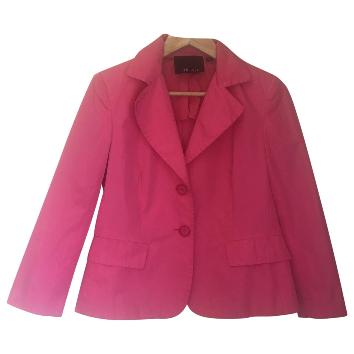 Non Signé / Unsigned Epaulettes Pink Cotton jacket for Women 6 UK