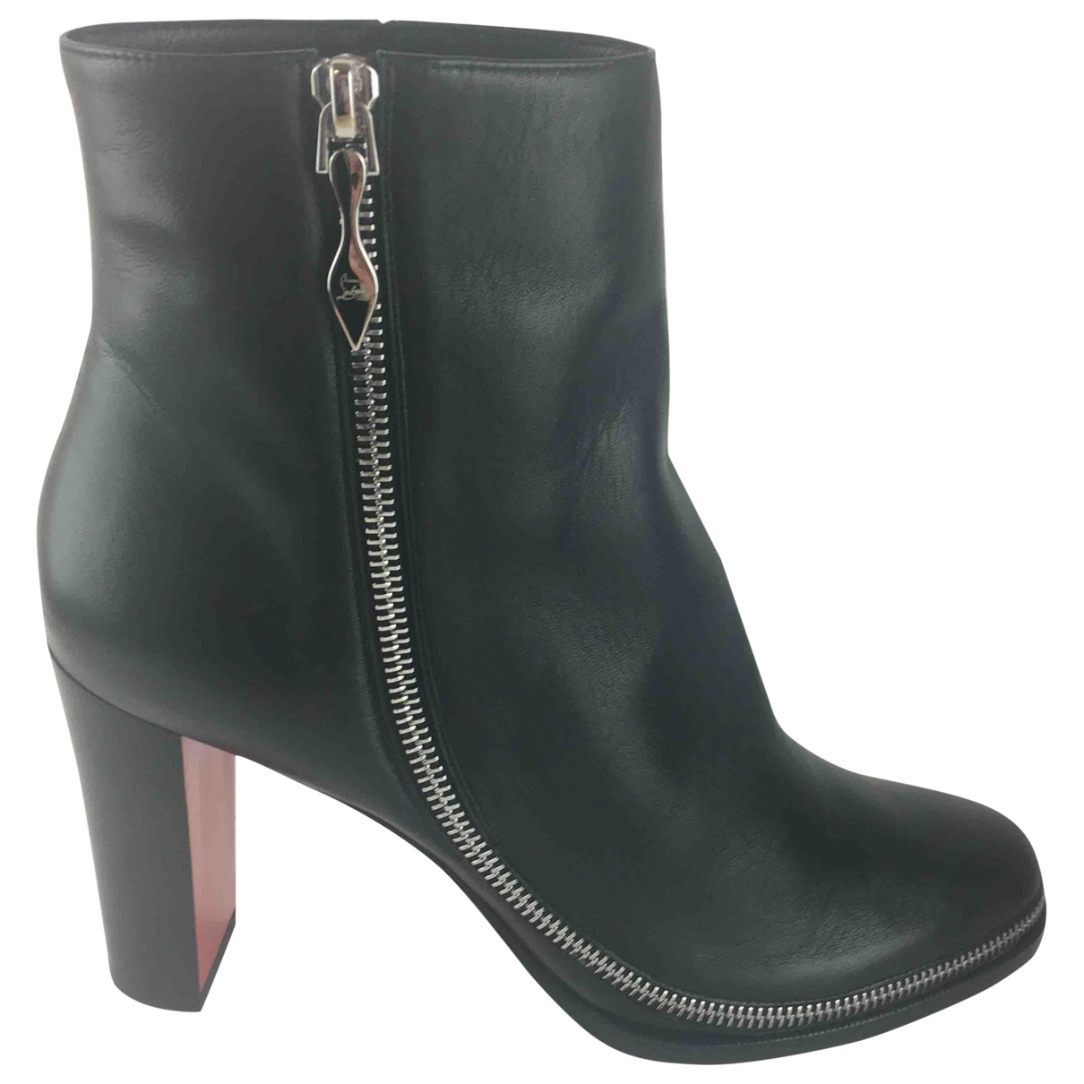 Christian Louboutin \N Black Leather Ankle boots for Women 40 EU