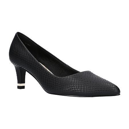 Easy Street Womens Pointed Pumps Spike Heel, 9 Medium, Black