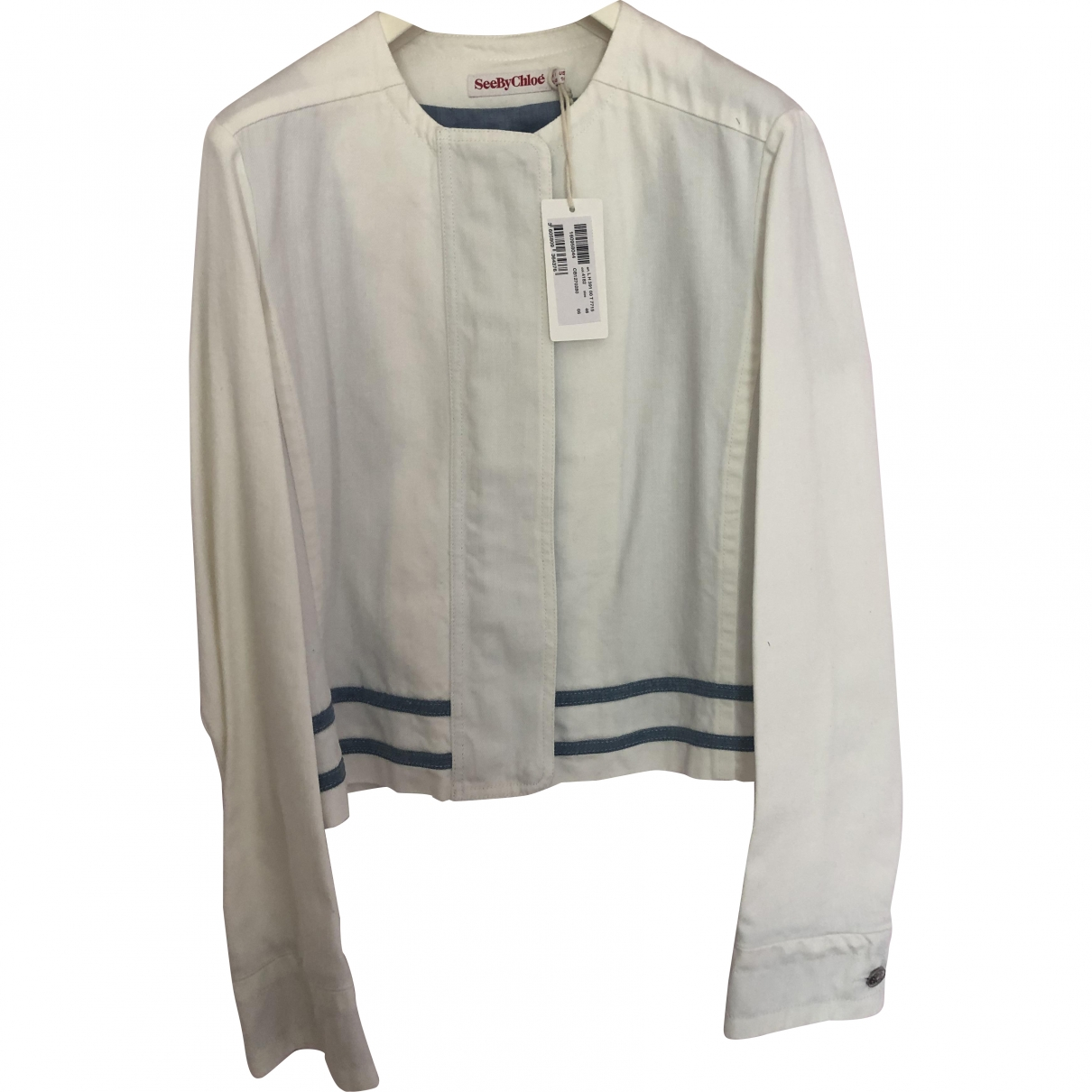 See By Chloé \N White Cotton jacket for Women 46 IT