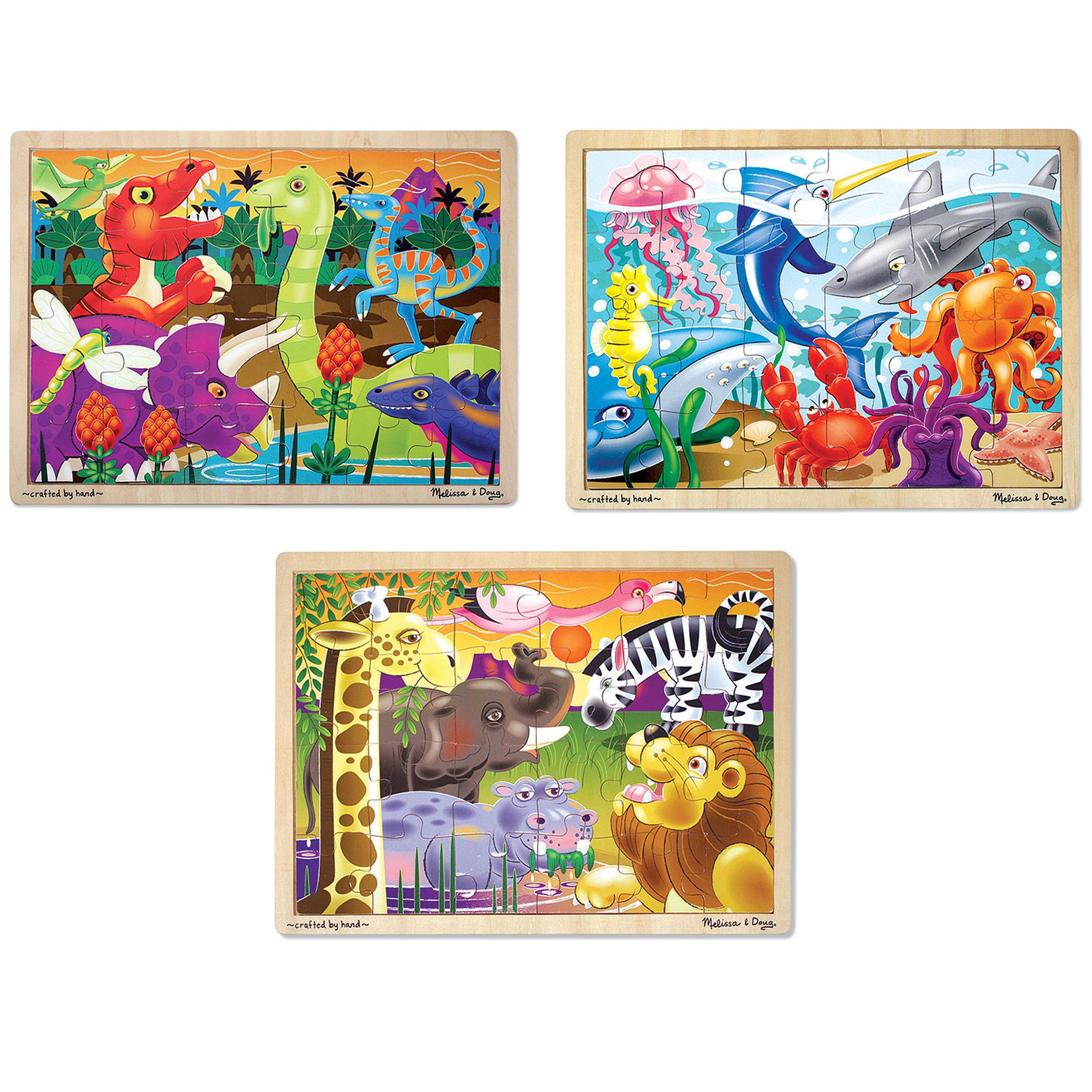 Melissa & Doug 24pc Jigsaw Puzzle Bundle
