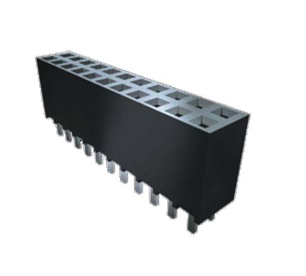 Samtec , SSW 2.54mm Pitch 40 Way 2 Row Straight PCB Socket, Through Hole, Through Hole Termination