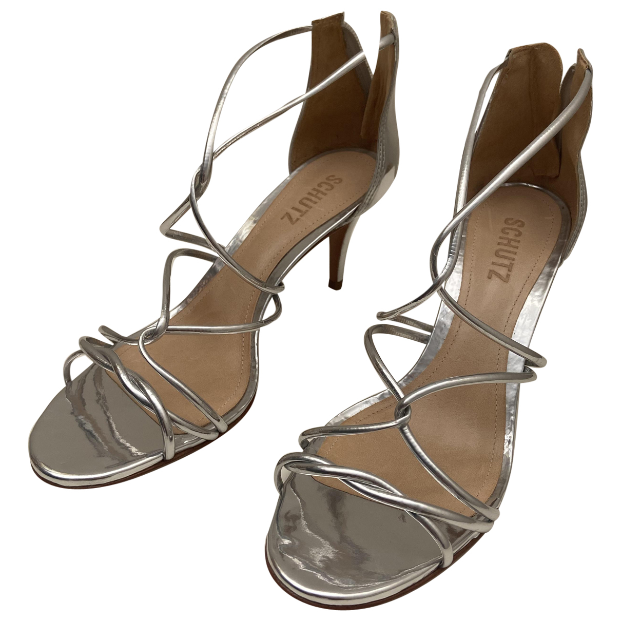 Schutz \N Silver Leather Sandals for Women 40 EU