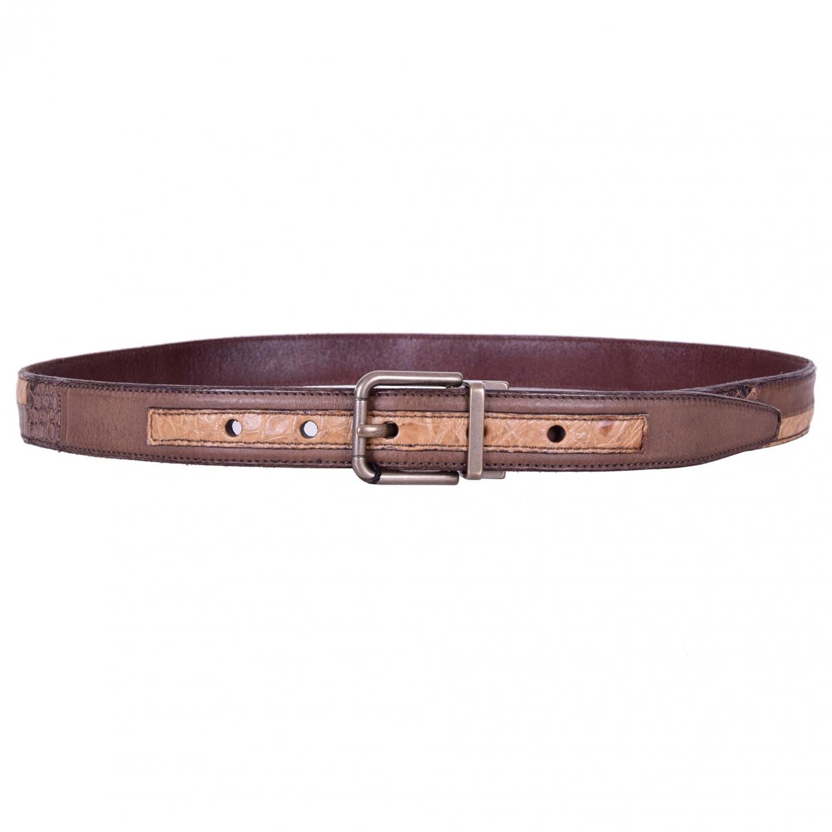 Dolce & Gabbana \N Brown Python belt for Men 100 cm