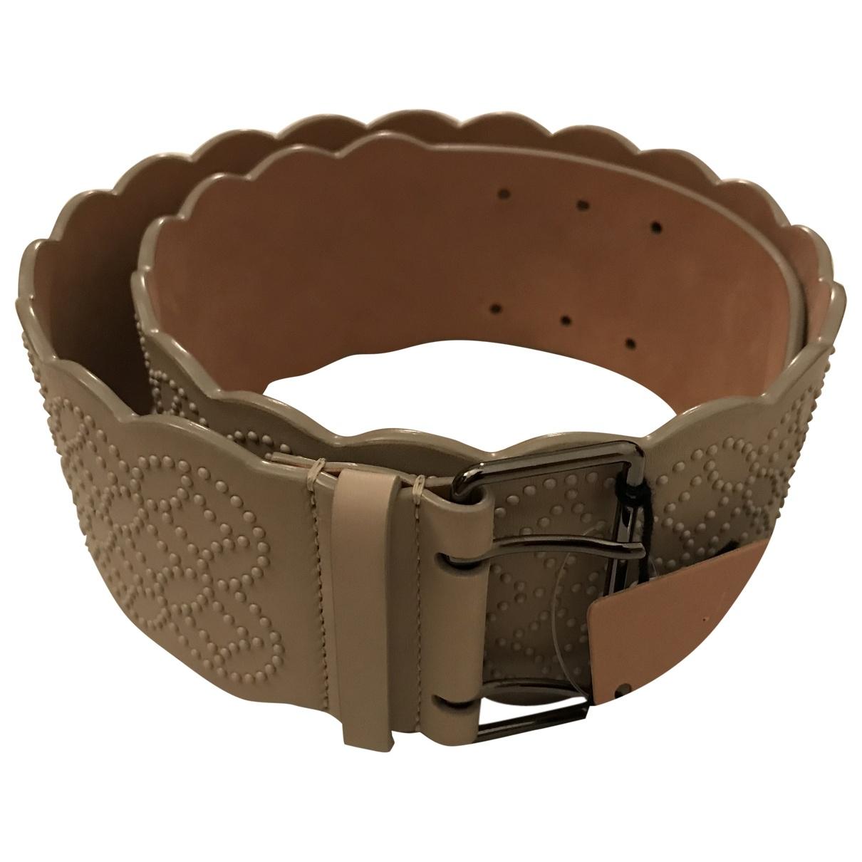 Alaïa \N Ecru Leather belt for Women 85 cm