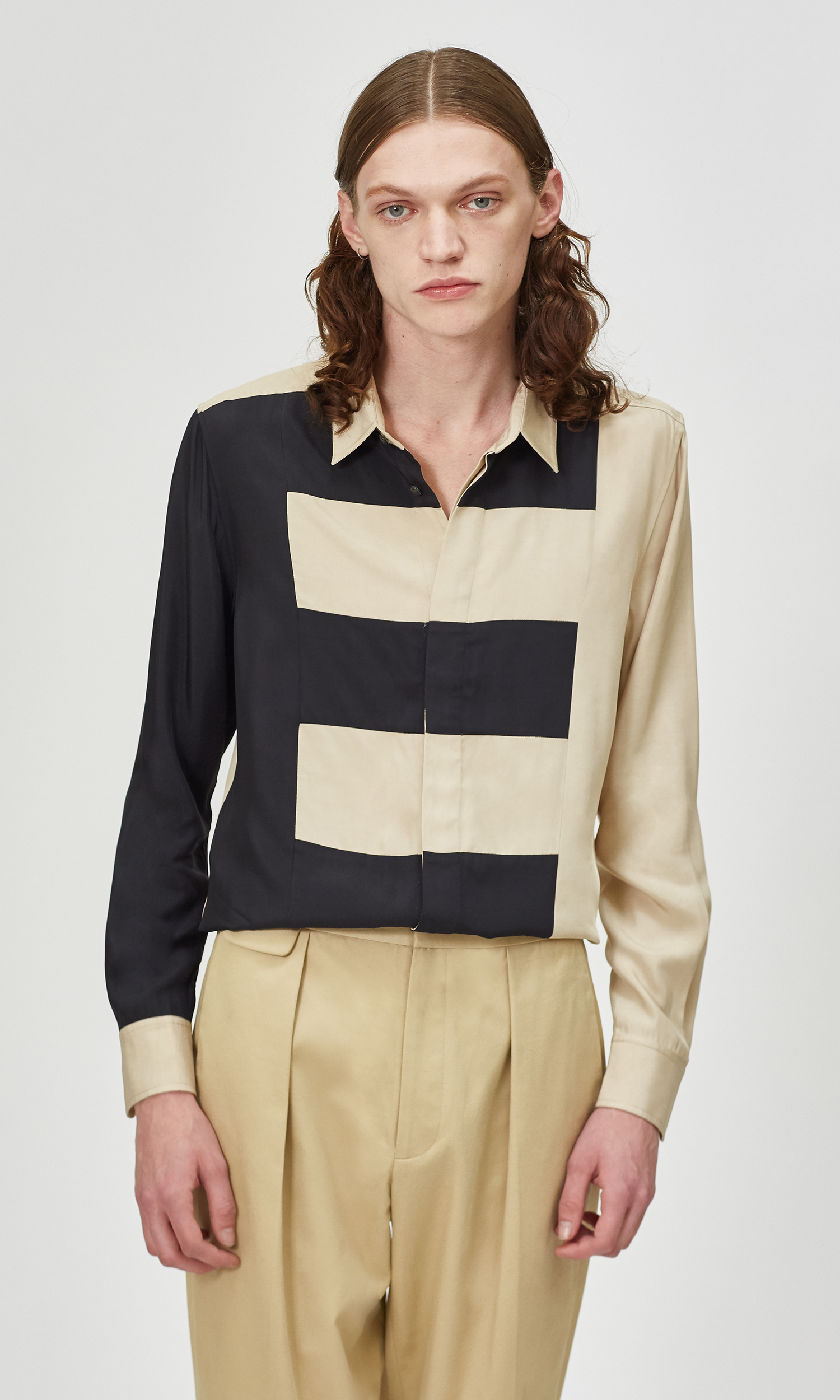 The Slim Fit Color Block E Shirt by Equipment