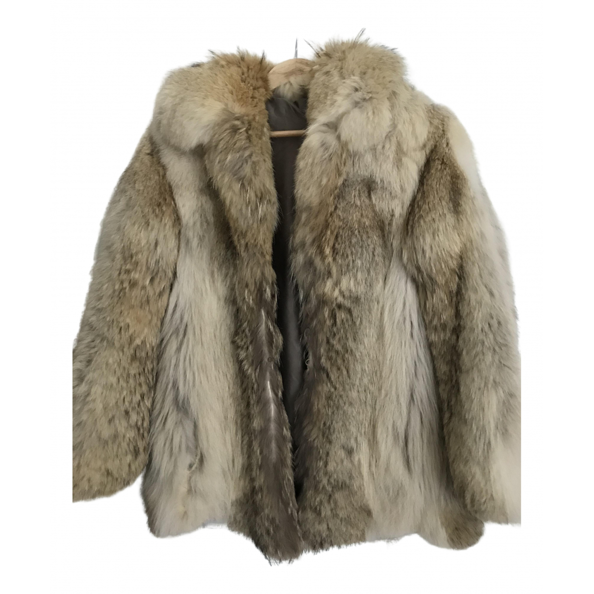 Non Signé / Unsigned \N Beige Fox coat for Women 40 FR