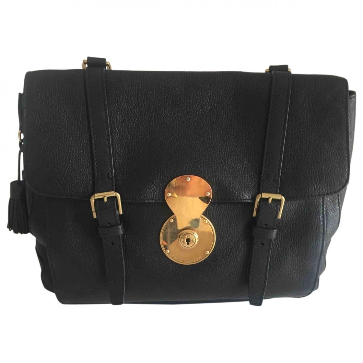 Ralph Lauren \N Black Leather handbag for Women \N