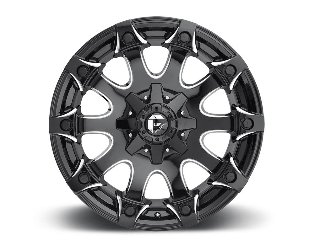 Fuel D578 Battle Axe Gloss Black & Milled 1-Piece Cast Wheel 18x9 6x135|6x139.7 -12mm