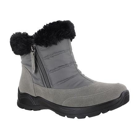 Easy Street Womens Frosty Waterproof Winter Boots, 8 1/2 Wide, Gray
