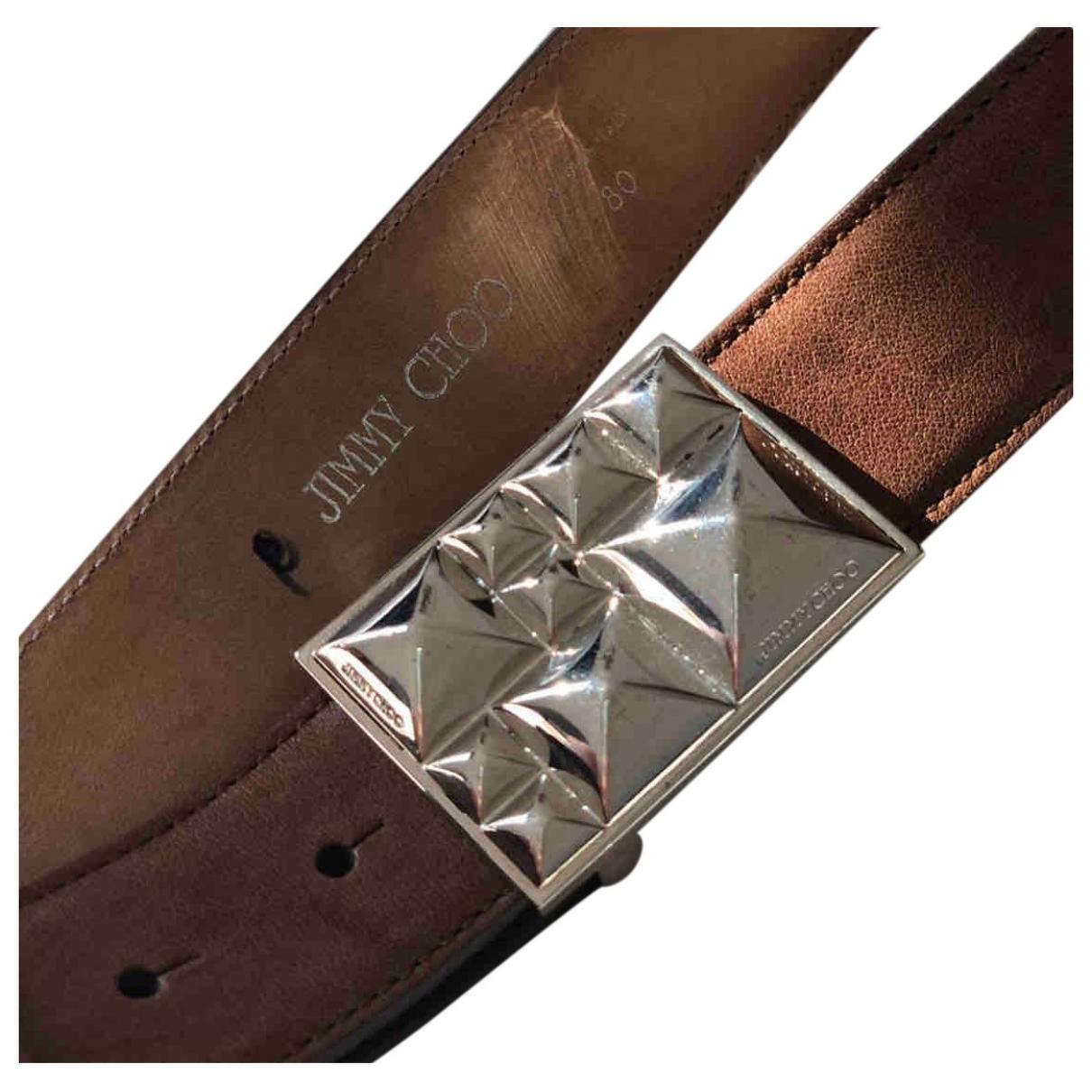 Jimmy Choo \N Brown Leather belt for Women 80 cm