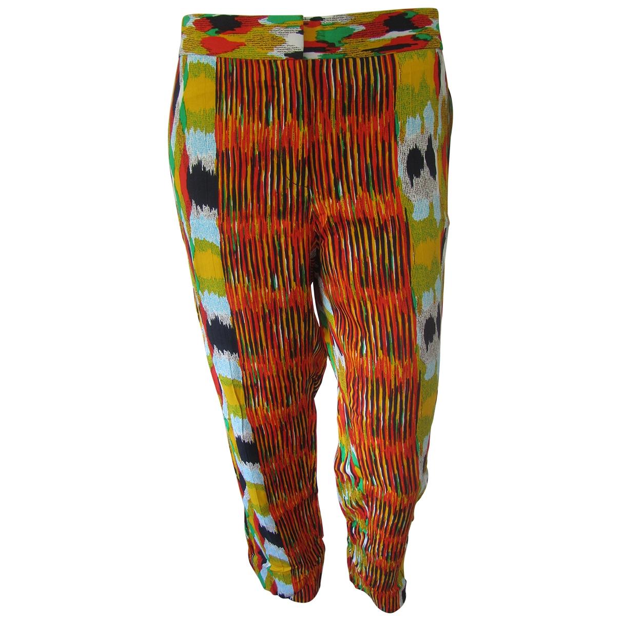 Celine \N Multicolour Trousers for Women 42 FR