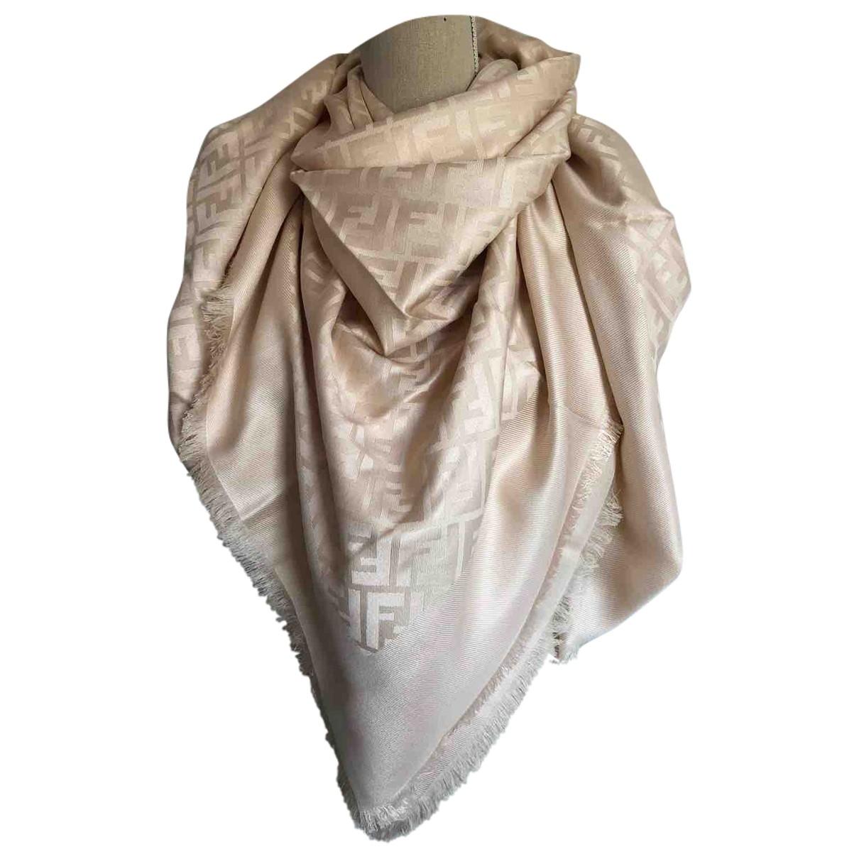 Fendi \N Beige Silk scarf for Women \N