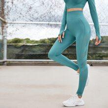 Laser Cut Solid Sports Leggings