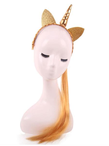 Milanoo Unicorn Costume Wig Synthetic Hair Wigs Halloween Costume Accessories