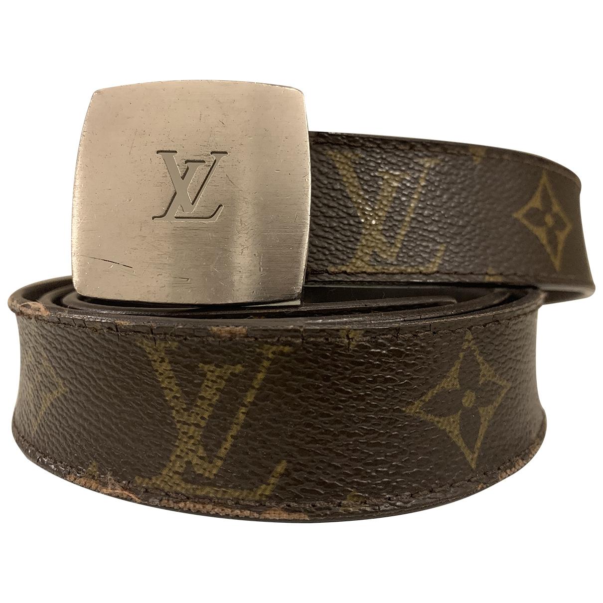 Louis Vuitton \N Brown Cloth belt for Men 100 cm