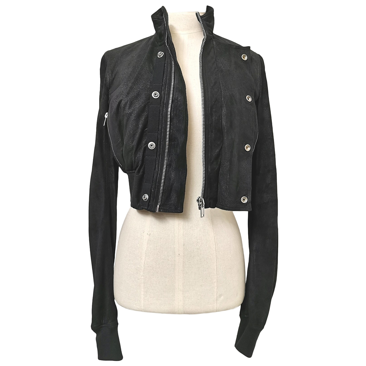 Rick Owens \N Black Leather Leather jacket for Women 42 IT