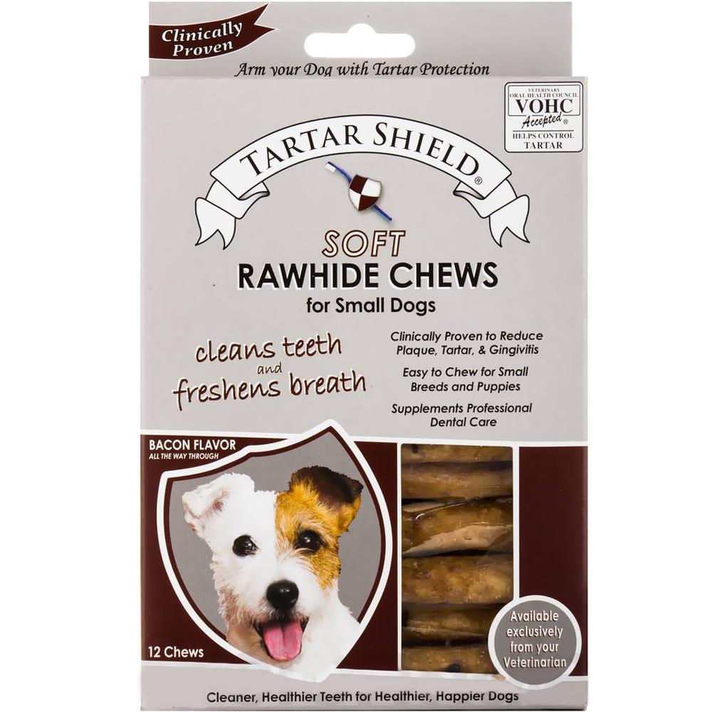 Tartar Shield Soft Rawhide Chews for Small Dogs (12 count)