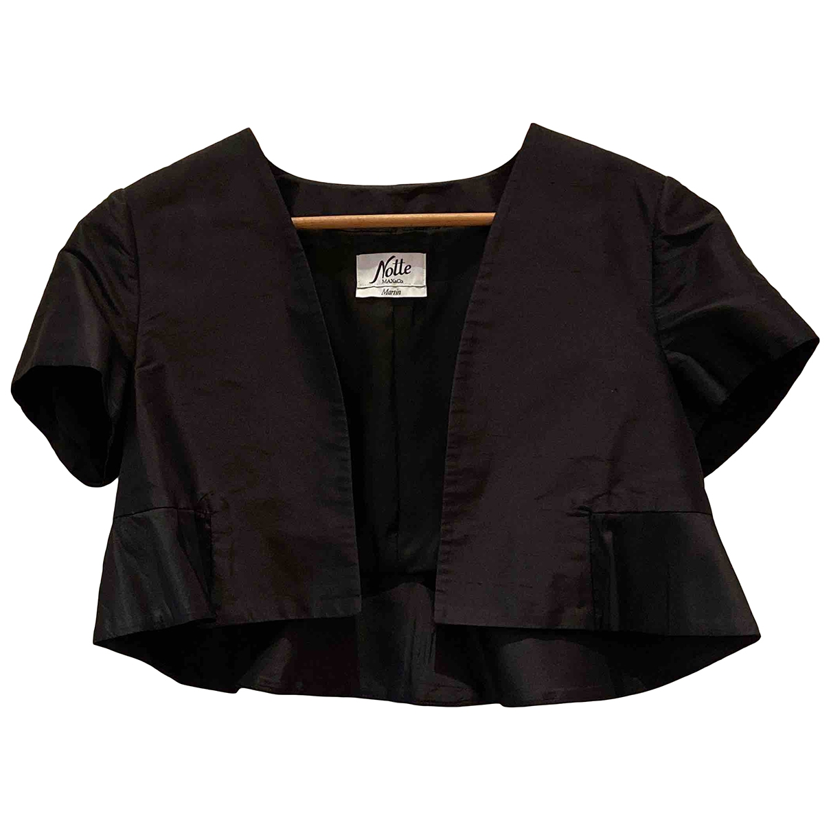 Max & Co \N Black Silk jacket for Women 44 IT
