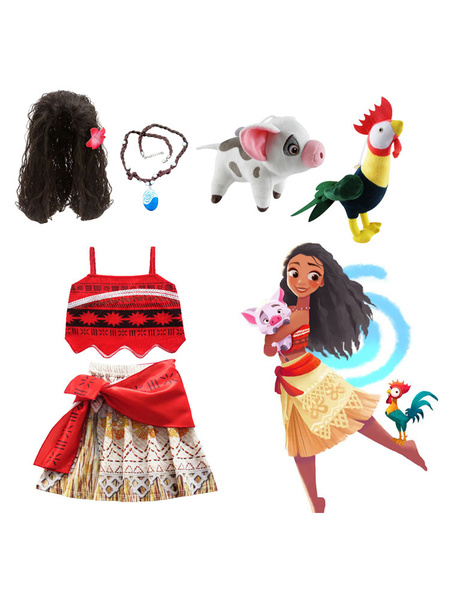 Milanoo Disney Moana Girls Adventure Outfit Animation Cosplay Costume Clothes For Kids Halloween