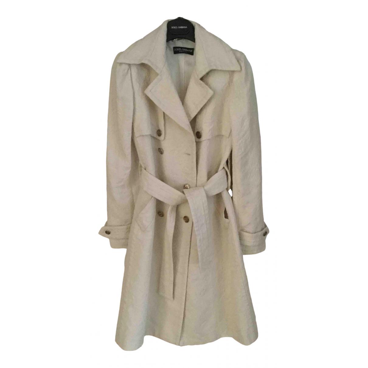 Dolce & Gabbana \N White Wool coat for Women 38 IT