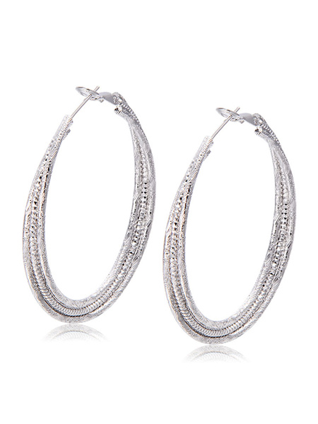 Milanoo Gold Chunky Hoop Earrings Women Statement Earrings