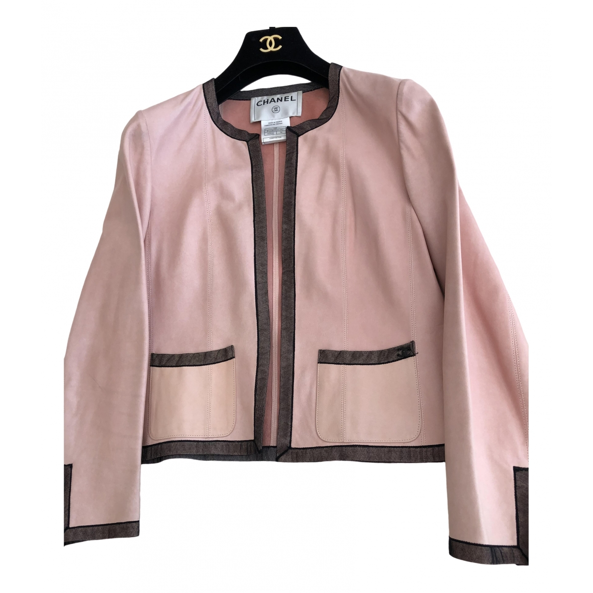 Chanel \N Pink Leather jacket for Women 36 FR