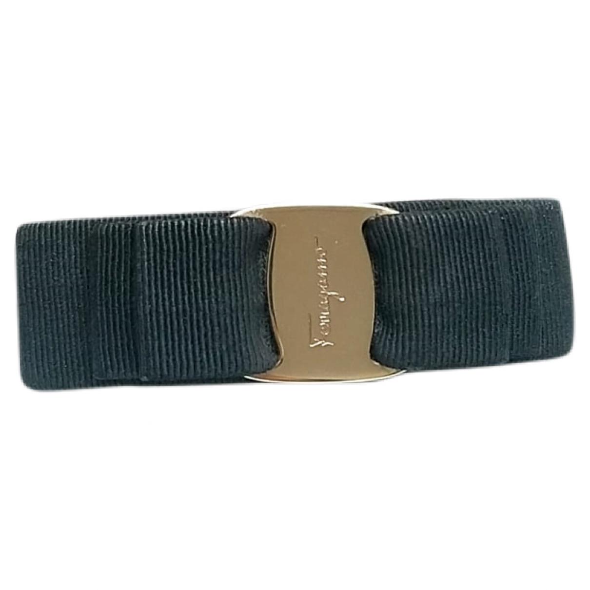 Salvatore Ferragamo \N Black Cloth Hair accessories for Women \N