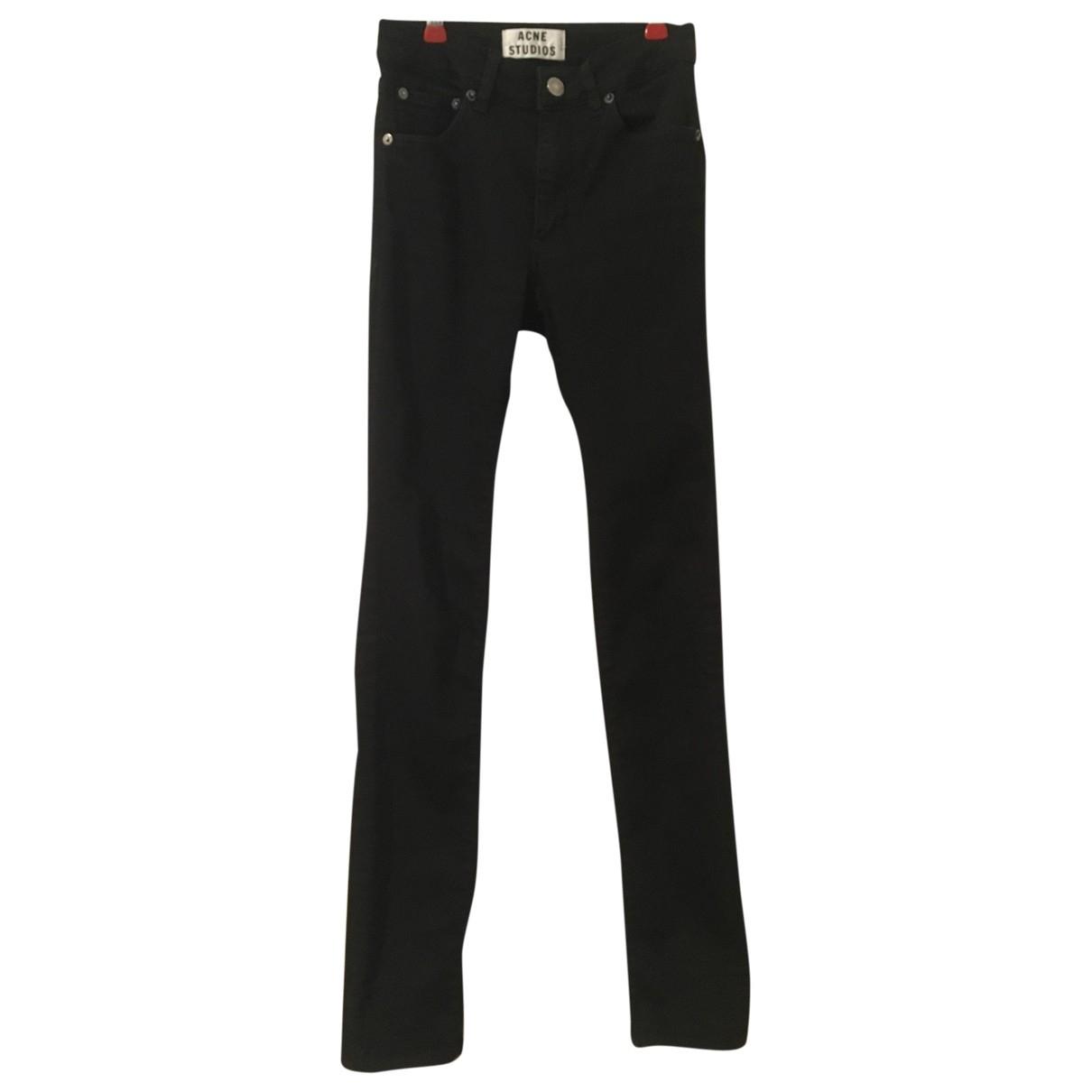 Acne Studios \N Black Cotton - elasthane Jeans for Women 25 US