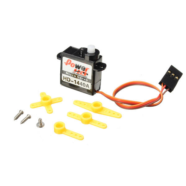 Power HD-1440A 0.8KG 4.4g Micro Servo Steel Ring Engine Compatible with Futaba/JR RC Car Part