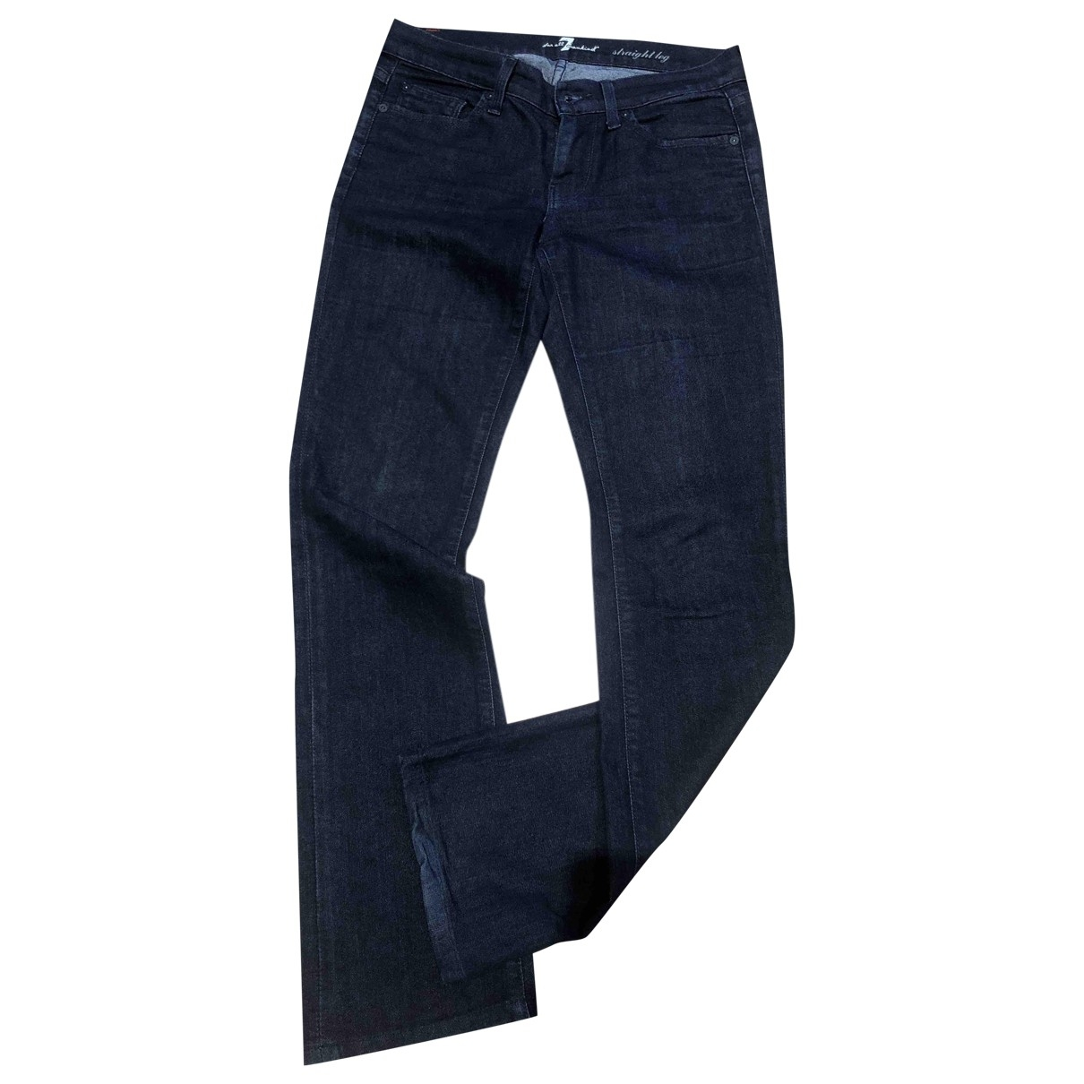 7 For All Mankind \N Navy Cotton Jeans for Women 27 US