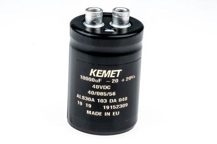 KEMET 10000μF Electrolytic Capacitor 40V dc, Screw Mount - ALS30A103DA040
