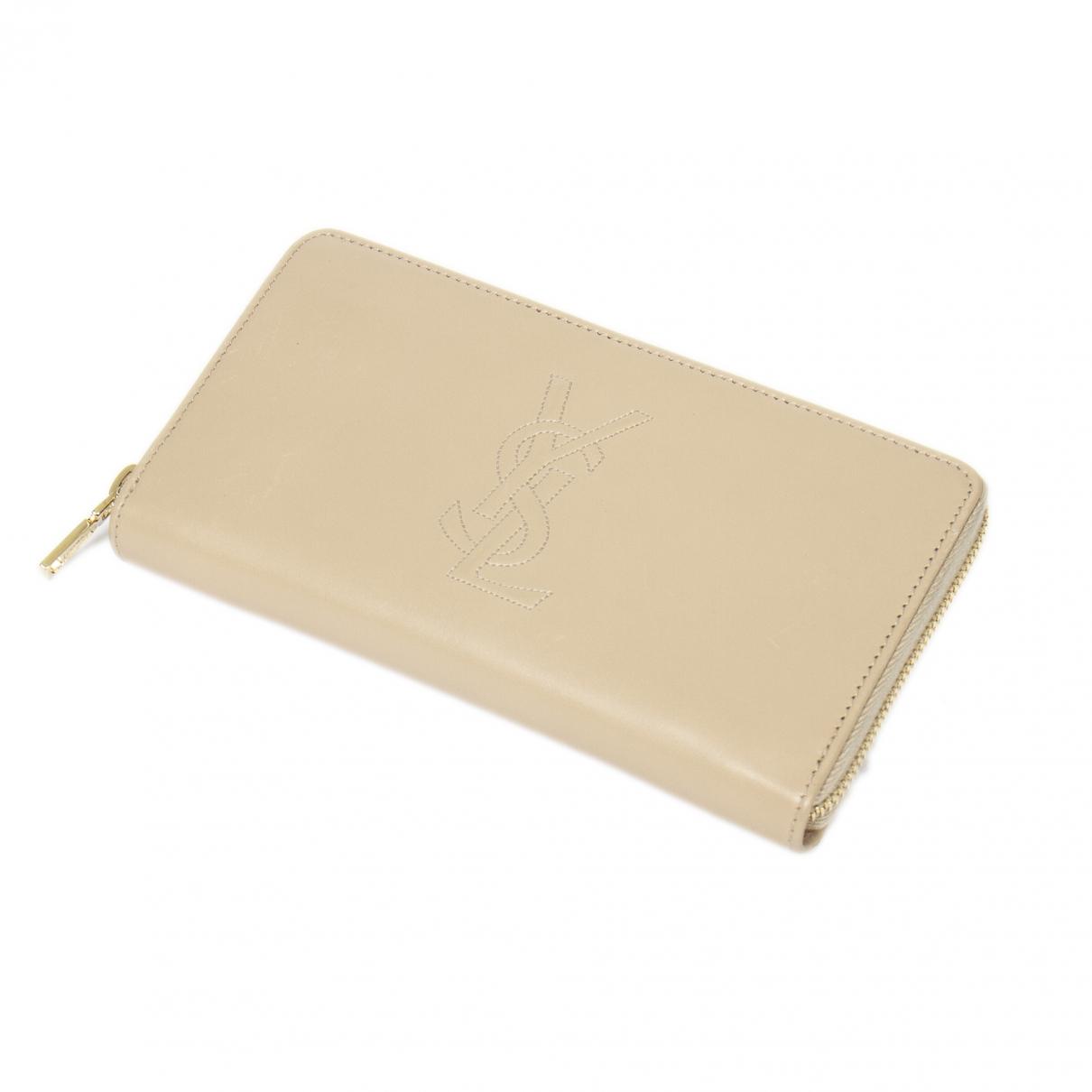 Yves Saint Laurent \N Beige Leather wallet for Women \N