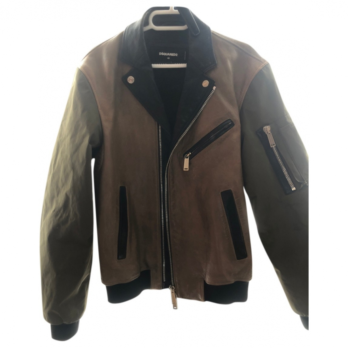 Dsquared2 \N Multicolour Leather jacket  for Men 48 IT