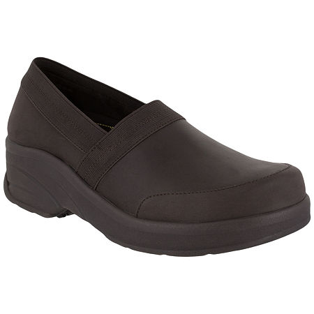 Easy Works By Easy Street Womens Attend Clogs, 8 Medium, Brown
