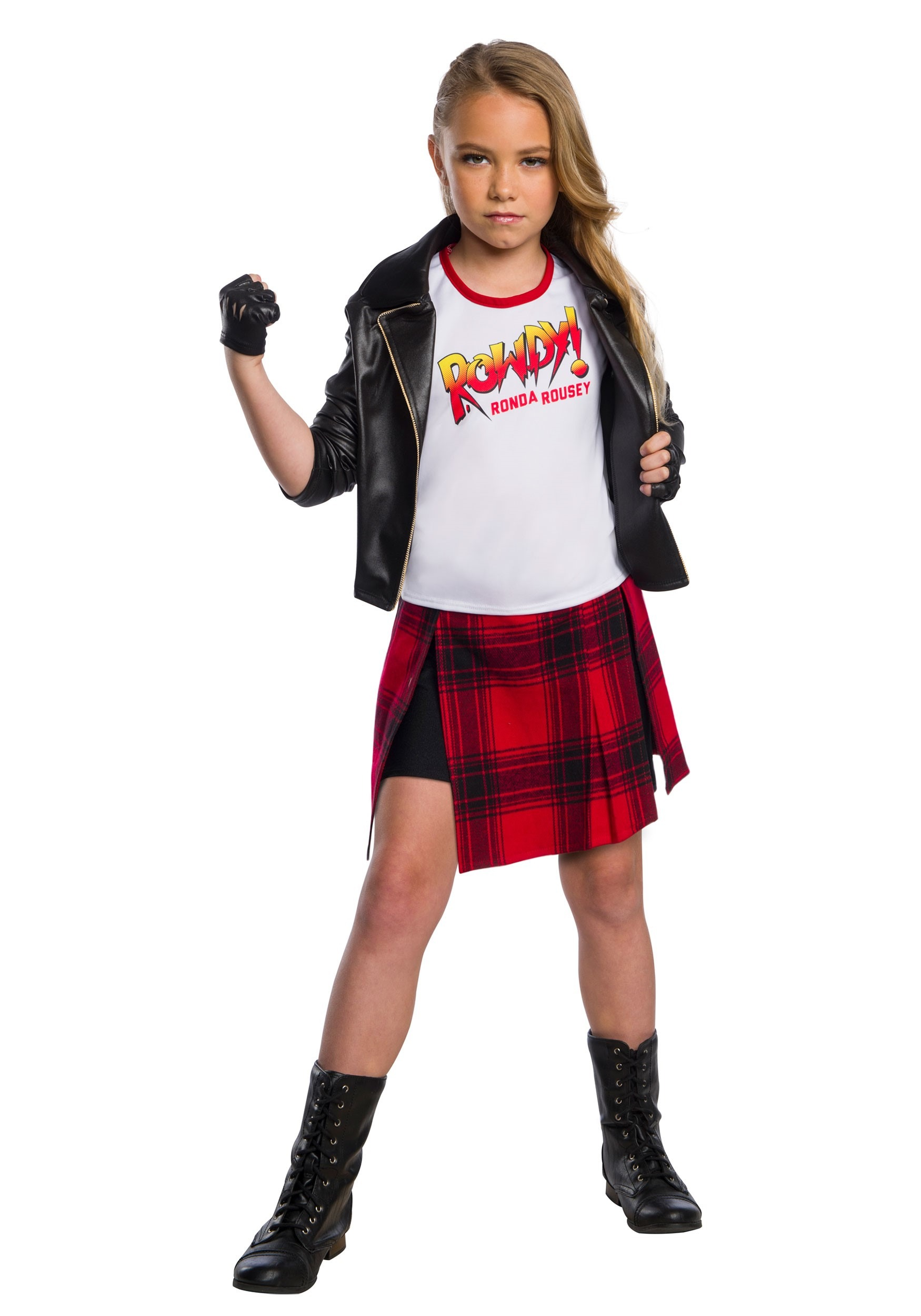 WWE Rowdy Ronda Rousey Deluxe Costume for Girls