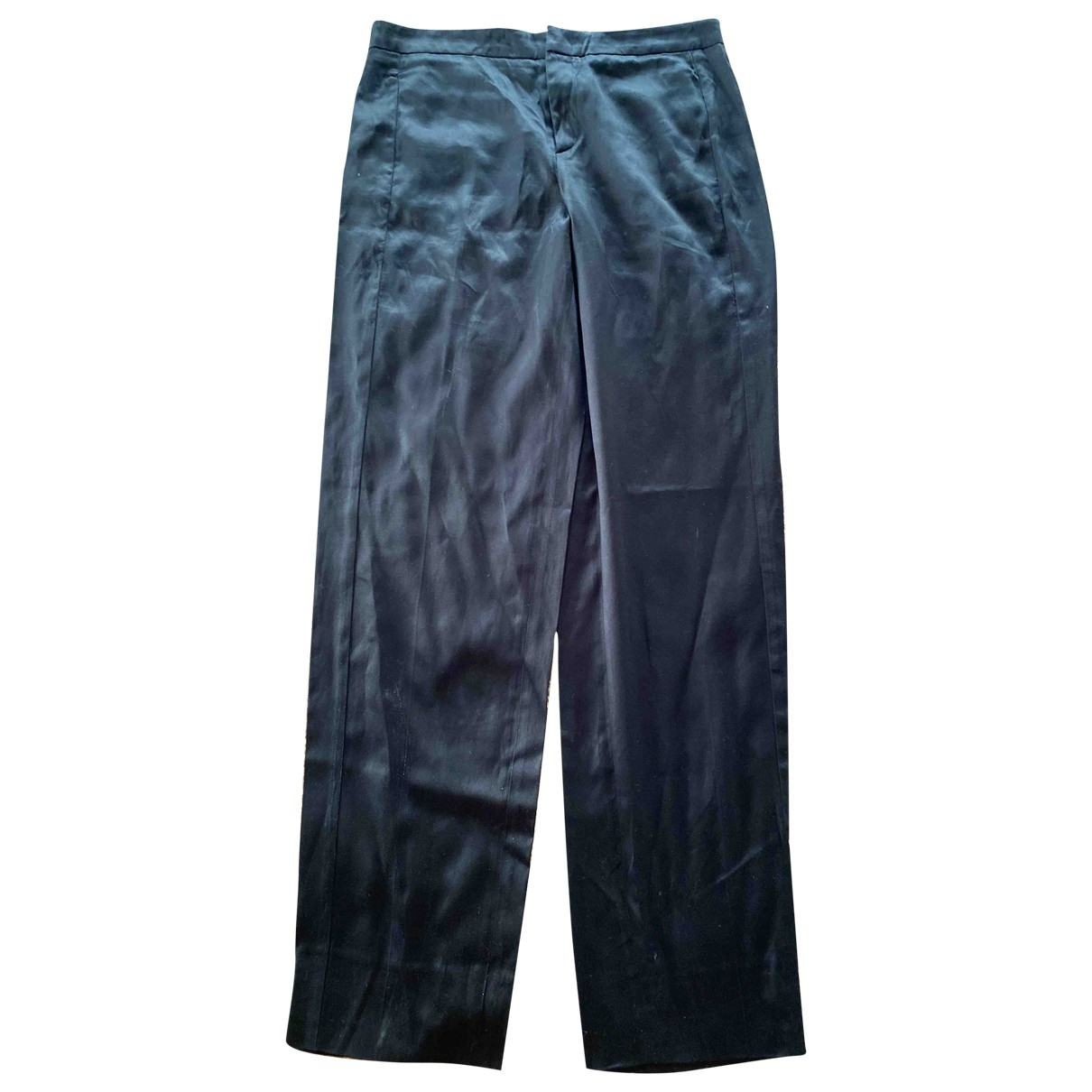 Gucci \N Black Cotton Trousers for Women 44 IT