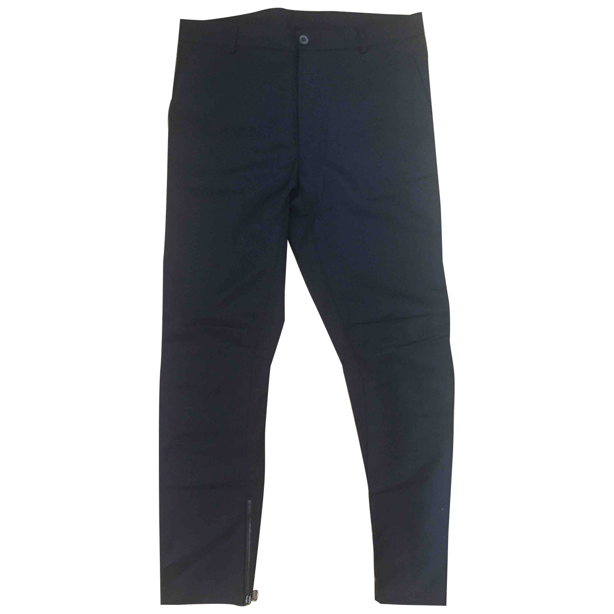 Lanvin \N Black Wool Trousers for Men 46 IT