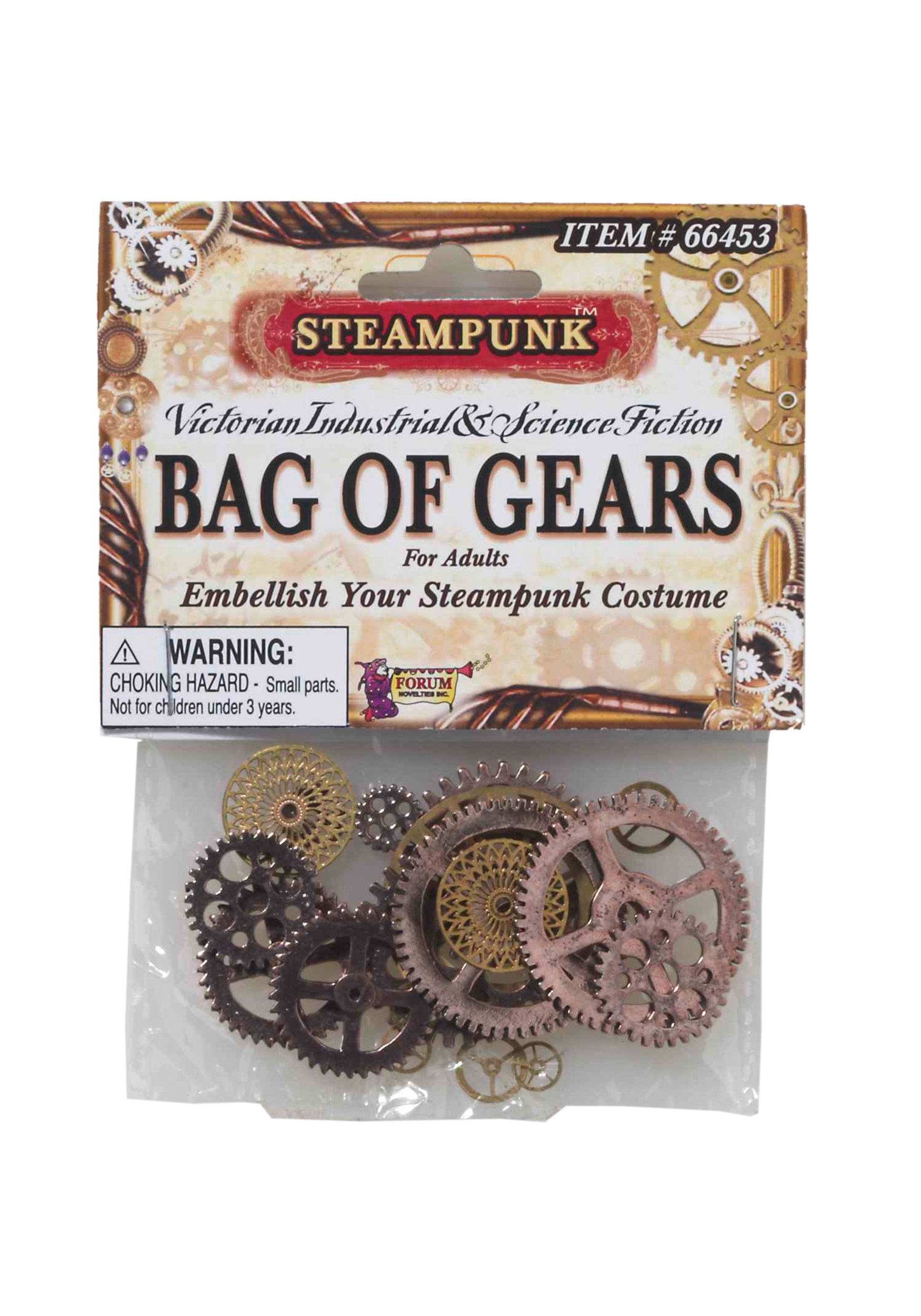 Steampunk Bag of Gears Props