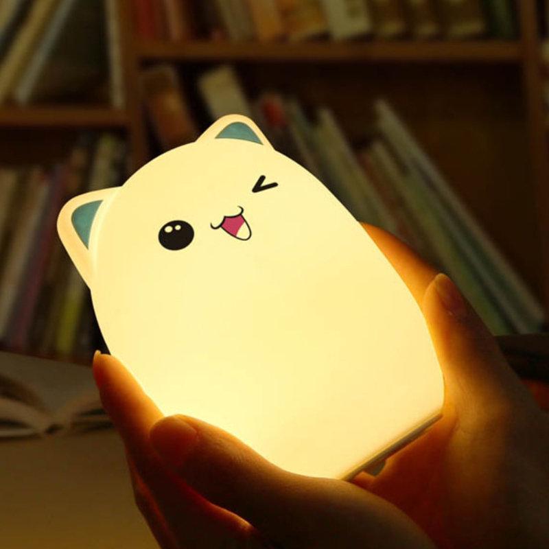 Cute Night Light Adorable Cartoon Bear Shaped Silicone Table Lamp Bedroom Home Decor
