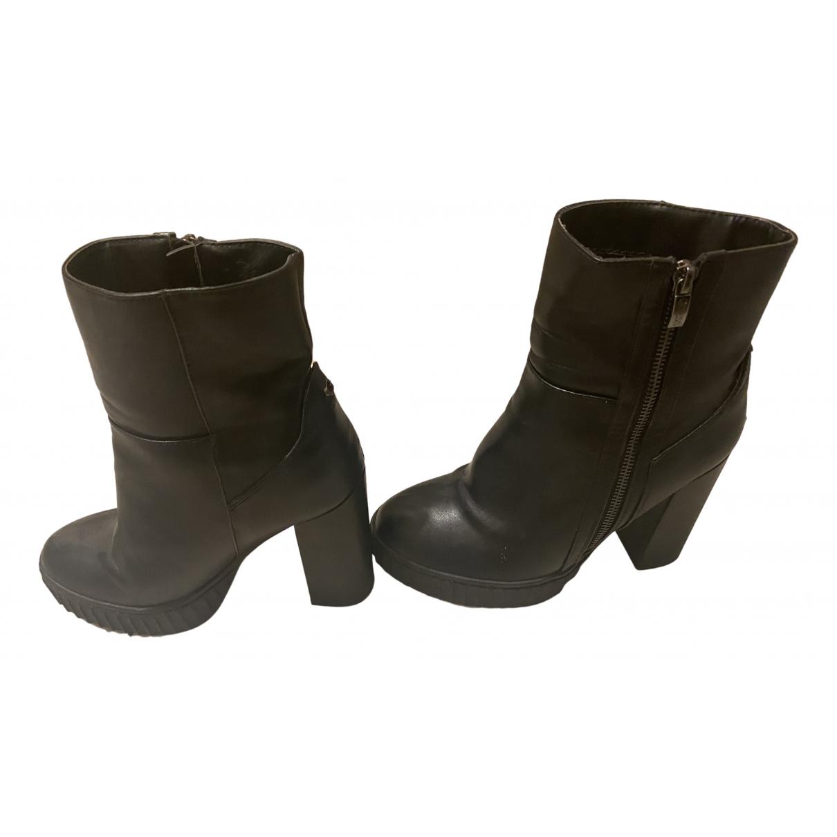 Guess \N Black Leather Heels for Women 39 EU