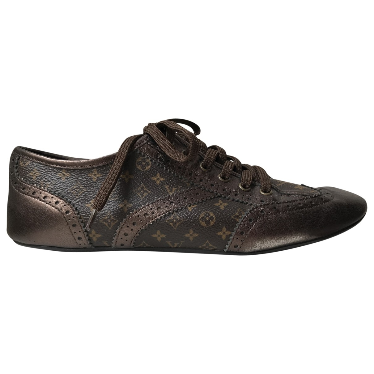 Louis Vuitton \N Brown Patent leather Trainers for Women 38.5 IT