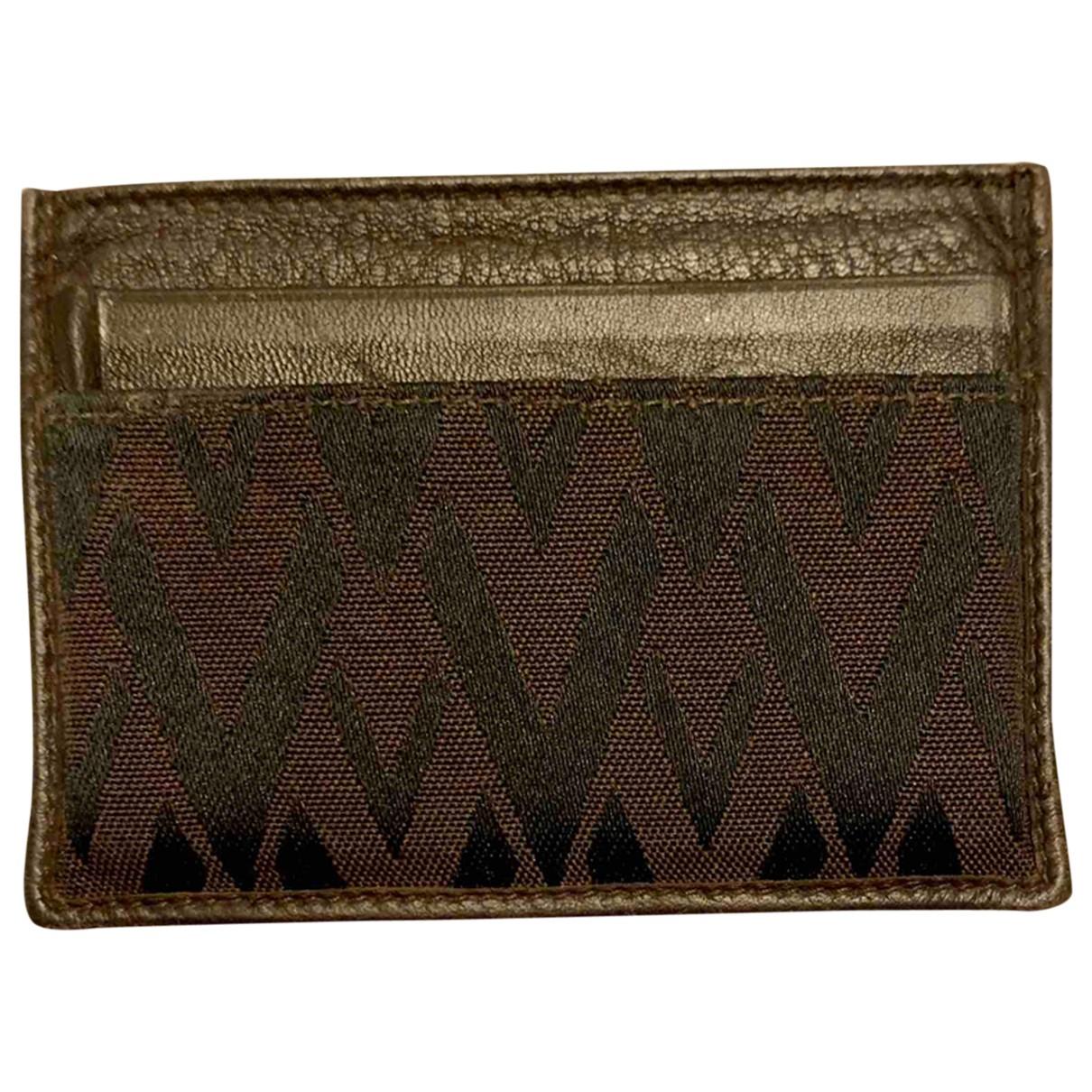 Valentino Garavani \N Blue Cloth Small bag, wallet & cases for Men \N