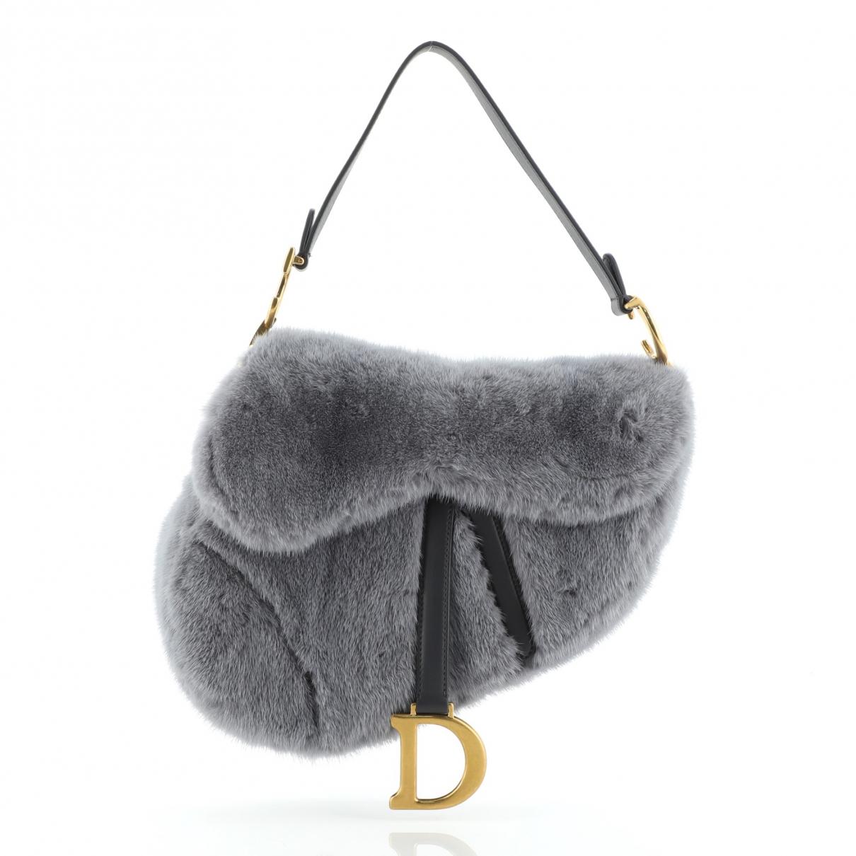 Christian Dior \N Grey Leather handbag for Women \N