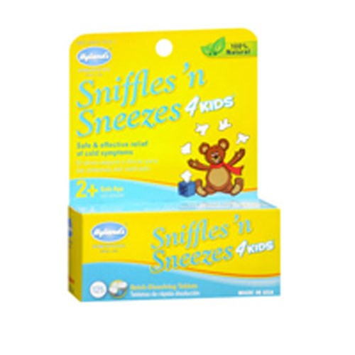 Hylands Sniffles And Sneezes 4 Kids 125 tabs by Hylands