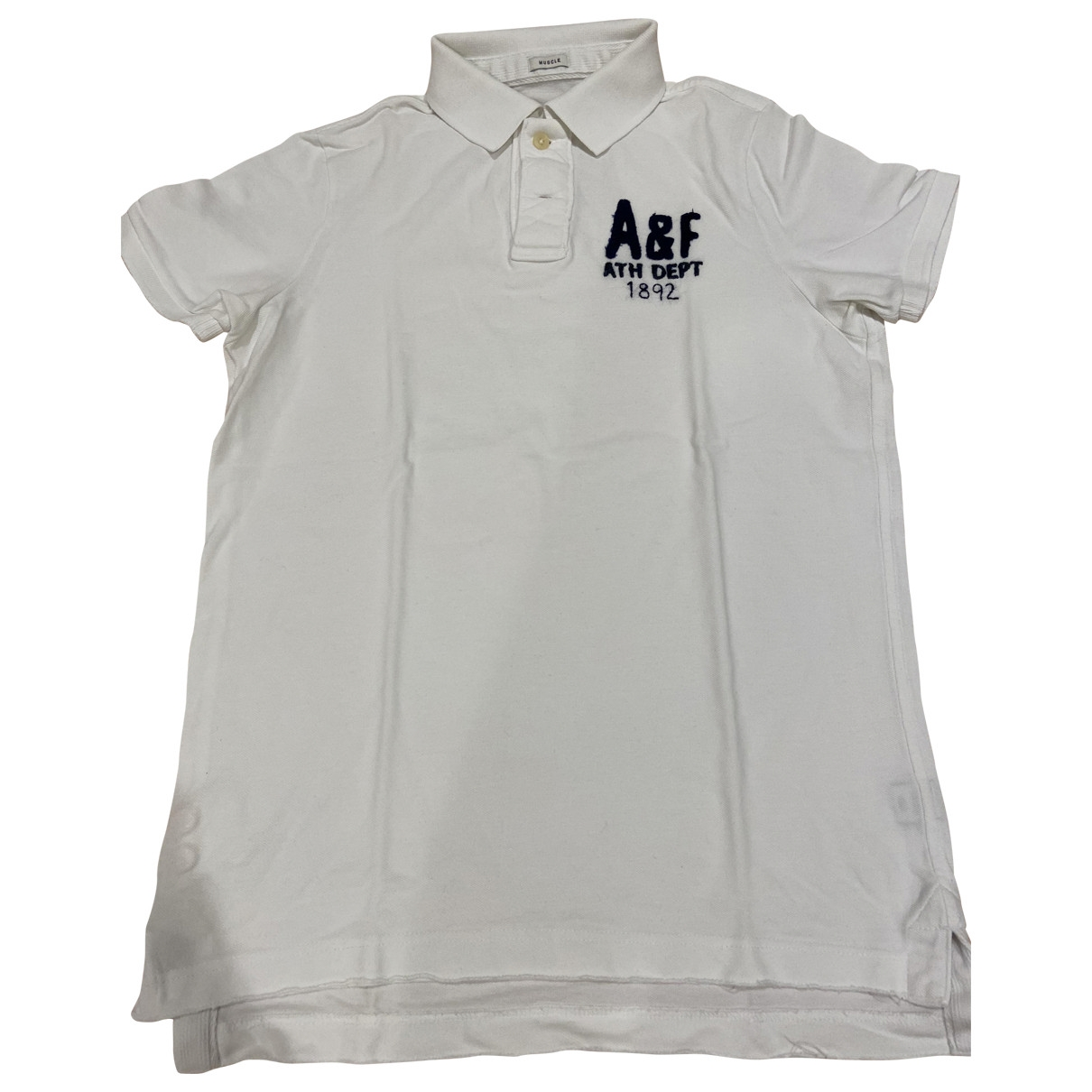 Abercrombie & Fitch \N White Cotton Polo shirts for Men XL International
