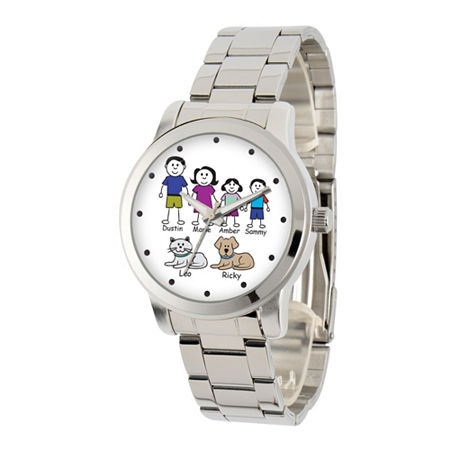 Womens Silver Tone Stainless Steel Bracelet Watch-41478-S, One Size , No Color Family