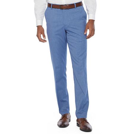 JF J.Ferrar Mens Super Slim Fit Suit Pants, 32 32, Blue
